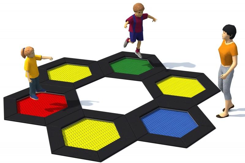 Trampoline für den Spielplatz